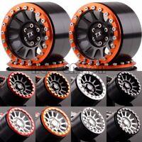 "Aluminum 2.2"" 12 Spokes Beadlock Wheels(4) 2022 For Axial Yeti/Wraith RC Crawler"