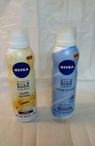 Nivea Foaming Silk Mousse Body Wash, Soft, Silky Skin, 6.8 oz/Pick Your Scent