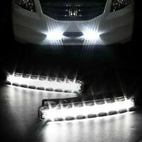 2x 8LED 12V STRIP DAYTIME RUNNING LIGHT DRL CAR FOG DAY DRIVING LAMP