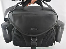 Black Digital SLR Camera Shoulder Carry Case Bag For Nikon Canon --free shipping
