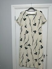 Paul Separates Cream And Black Floral Dress Size 14