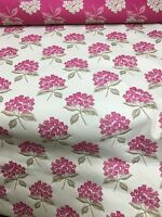SAMUEL SIMPSON PINK FLORAL SUPER LUXURIOUS JACQUARD UPHOLSTERY FABRIC 3 METRES