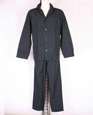 Hugo Boss Pyjama durchgeknöpft Schlafanzug Webware S M L XL XXL