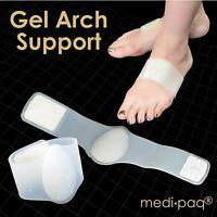 Medipaq® Supper Soft Silicone Foot Arch Support Plantar Fasciitis Fallen Arches