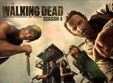 """The Walking Dead 1 2 3 4  TV Zombie Fabric Poster 17"""" x 13"""" Decor 77"""