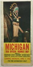 New Listing1956 Michigan Official Highway Map, State Highway Dept. Original & Vintage