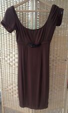 Miss Sixty Collection Brown Extra Small Dress With Belt Waist Short Sleeves XS