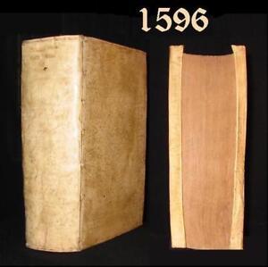 Scarce 1596 CICERO - M. TULLII CICERONIS: OPERA OMNIA 4to Leather /Orig.Vellum