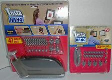 INSTA HANG 80-PIECE DELUXE SET SECURE EASY FAST EACH PEG HOLDS UP TO 10 LBS –NIP