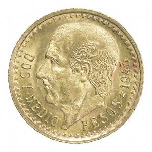 1945 2 1/2 Pesos - Miguel Hidalgo y Costilla - Mexico Gold Coin *409