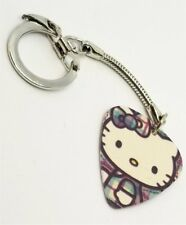 Hello Kitty Plaid Guitar Pick Key Chain