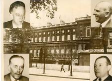 Paris, réunion des Quatre Grands Vintage silver print,MM. Jessup, Malik, Chauv