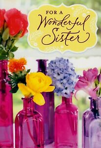 Hallmark For A Wonder Sister Birthday Greeting Card For Her