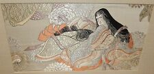 CHINESE WOMAN SILK EMBROIDERED TAPESTRY PAINTING UNSIGNED