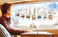 Travel world Paris tower Home Room Decor Removable Wall Sticker Decal Decoration