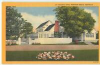 Rehoboth Beach Delaware DE Country Club 1940s Linen Antique Postcard 26244