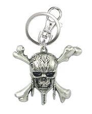 Disney Movie Pirates of the Caribbean Skull Logo Pewter Key Ring Keychain