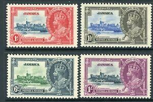 British 1935 KGV Silver Jubilee Jamaica Scott #109-112 Mint Non Hinged Y117