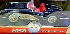 Motor Max 1958 Chevrolet Corvette Black & Silver with Red Interior 1/18 Scale