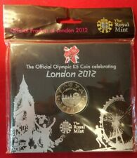 Royal Mint London 2012 Olympic Games £5 Pound Coin brilliant uncirculated sealed