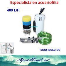 filtro externo exterior acuario HW-602B marino dulce pecera tortuguera 400 L/H