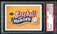 1991 Upper Deck Nolan Ryan Heroes HEADER CARD PSA 10 GEM MINT !