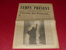 "[PRENSA WW2 39-45] ""TEMPS AHORA SEMANAL"" # 5 / 22 SEPTIEMBRE 1944 J'acusado"
