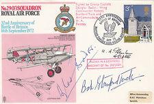RAF6a 32nd Anniv Battle of Britain Signed Douglas Bader Robert Stanford - Tuck,