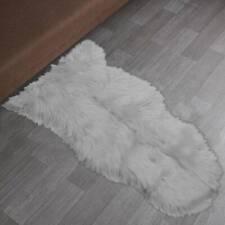 New Faux Fur Sheepskin Rug Fluffy Mat Room Sofa Bed Hairy Shaggy Floor Carpet UK