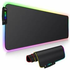 RGB Gaming Mouse Pad Extra Large Soft Led Extended Mousepad for Computers Gamer