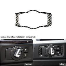 For BMW E92 E90 E93 3 Series Carbon Fiber Headlight Switch Frame Cover Trim Z4K3