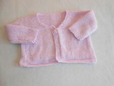 Baby Girls Clothes 3-6  Months - Pretty Girl Pink Hand  Knitted Cardigan -