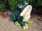 Frog Statue Figurine Garden Ornament Green Large