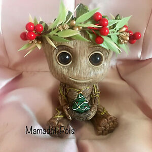 Groot:Christmas Wreath Planter Pot