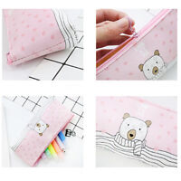 Cute Animals Pencil Case Pen Box School Stationery Cosmetic Makeup Bag