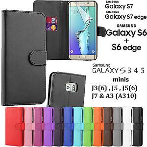 Clapet PU Cuir Livre Portefeuille TPU Étui Housse Pour Samsung Galaxy Téléphones