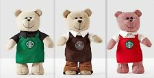2016 Starbucks Bearista Collection Boxed- Limited Edition - Lot of 3