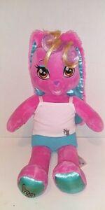 "Build A Bear Singing Honey Girl HG Risa Pink Rock Star Bunny Rabbit Plush 22"""