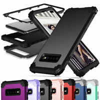 Hybrid Metal Frame Silicone Hard Case Cover For Samsung Galaxy S10 / S10 Plus