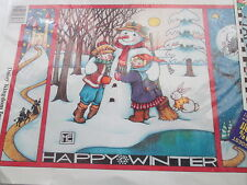 Happy Winter Snowman Mary Engelbreit Iron-On Transfer 1990 Daisy Kingdom #6536