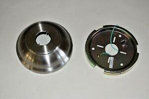 """HUNTER CEILING FAN USED PARTS - 56"""" ERGONOMIC - BR. NICKEL CANOPY/ CEILING PLATE"""