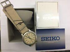 SEIKO 5 SNK803K2 BOX AUTOMATIC military WATCH (CAL.7S26C) Beige face nylon strap
