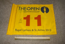 2012 BRITISH OPEN ACTUAL 11TH GREEN FLAG SIGNED BY CHAMPION ERNIE ELS +FULL PSA