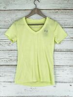 Under Armour Womens XS UA Tech Twist V-Neck Yellow Lightweight Loose Fit NEW
