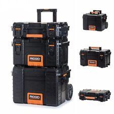 3 PIECE SET RIDGID Portable Tool Storage Box Organizer Rolling Cart Case Chest