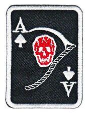 TESCHIO CON CILINDRO aufbügler tonaca Badge Biker 666,ace of Spades SKULL Patch