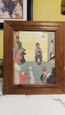 "Norman Rockwell- Boy In Veterinarian'S Office - Framed Litho Print 18.5""x15.5"""