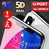 For Apple iPhone X 6s 7 8  - 5D Full Cover Tempered Glass Screen Protector Lot