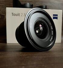 "ZEISS 12mm Touit f2.8 E-mount - Sony Fit ""Excellent Condition"""