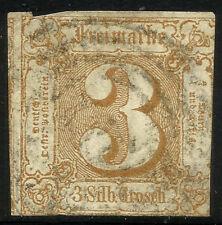 THURN UND TAXIS, 3 SILBERGROSCHEN, 1863, MICHEL # 31, RING CANCELLATION.